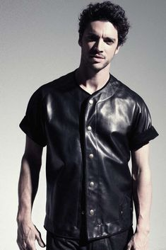 I need this leather baseball jersey!!  HOON 2013 Spring/Summer Collection