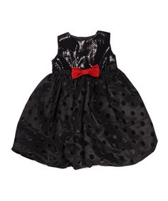 Look at this Penelope Mack Black Sequin Polka Dot Dress - Infant & Girls on #zulily today!