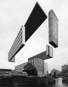 Série de imagens do artista Espen Dietrichson apresenta edifícios fragmentados