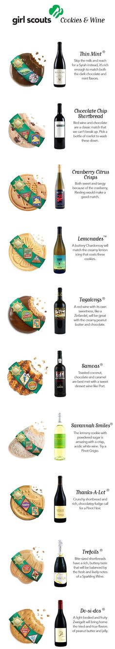 Girl Scout Cookies Wine Pairing Guide  {wineglasswriter.com/}