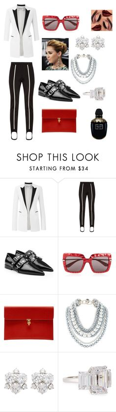 """""""Untitled #423"""" by ericap61720 ❤ liked on Polyvore featuring Amanda Wakeley, Fendi, Victoria Beckham, Dolce&Gabbana, Alexander McQueen, Henri Bendel and Fantasia by DeSerio"""