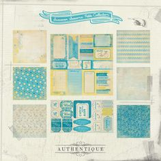 "Seasons: Summer Petite Collection by Authentique Paper- This Petite Collection offering, ""Seasons:Summer"" is sun-kissed and friendly. Ideal for general summer or warm-weather projects, this mini-theme has the right mix of patterned papers as well as a coordinating sticker accent sheet and 6x6 Bundle. The use of blue, cream and yellow is strong yet subdued creating the perfect summer feel. This is your ticket to paradise...don't miss out!"