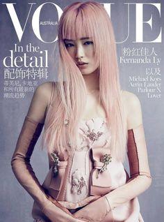 Vogue Australia November 2015 [] All people in this magazine cover:  Nicole Bentley- Photographer, Meg Gray- Fashion Editor/Stylist, Fiona Hay- Hair Stylist, Linda Jefferyes- Makeup Artist,  Fernanda Ly- Model
