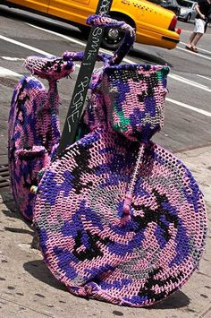 Knit Wit: More Of Olek's                               Amazing Crochet Art.......  Really  not sure!!
