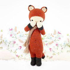 FIBI the fox lalylala crochet pattern / amigurumi di lalylala