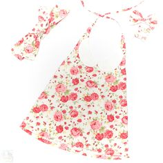 Arabella Collar Top with Headscarf, Large Bows and Mini Bows