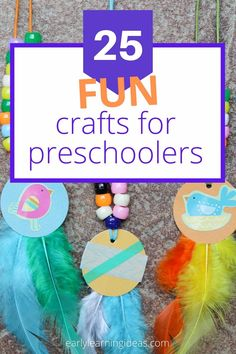Check out 25 popular craft projects to do with kids. Use this visual library to find lots of fun activities to make with your preschoolers at home. Preschool Activities At Home, Spring Activities, Color Activities, Easy Projects, Craft Projects, All About Me Crafts, Bug Crafts, Teaching Colors, Popular Crafts