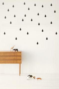 Possible contact paper DIY (ferm living wall stickers). Wall Stickers, Wall Decals, Wall Décor, Deco Originale, Decoration Inspiration, Bedroom Inspiration, Scandinavian Home, Scandinavian Wallpaper, Of Wallpaper