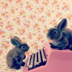 typewriter fun with florals — UPPERCASE