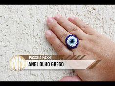 NM Bijoux - Anel Olho Grego de miçangas - YouTube