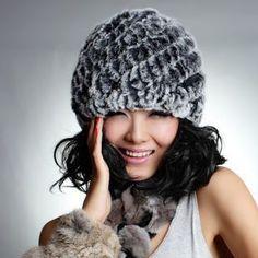 33ed204326b New Knitted genuine natural REX rabbit fur hat cap headgear headdress women  warmer skullies Wholesale Free