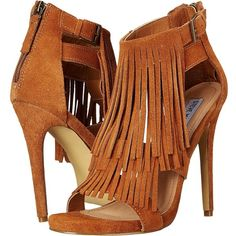 Steve Madden Babbz Women's Sandals, Brown ($91) ❤ liked on Polyvore featuring shoes, sandals, brown, open toe platform shoes, platform shoes, synthetic shoes, steve-madden shoes and tassel shoes