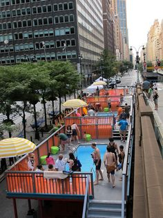 yup, these are dumpster pools in downtown NYC.