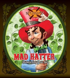 Here's a peek at the 2015 packaging for new Holland Mad Hatter. This Midwest IPA uses Centennial, Citra and Michigan-grown Cascade hop. Unusual Names, Beer Brands, New Holland, New Theme, Craft Beer, Alice In Wonderland, Orange Color, Brewing, Ale