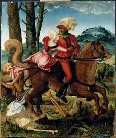 'The Knight, the Young Girl & Death ' -- 1505 -- Hans Baldung -- German -- Oil on panel -- The Louvre