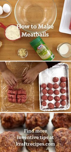 If your Nonna isn't around to teach you how to make meatballs, our cooking video can. She'd like our tip for making them all the same size. You will too.