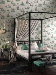 Osborne & Little Palais Chinois wallpaper #lifeinstyle #greenwithenvy