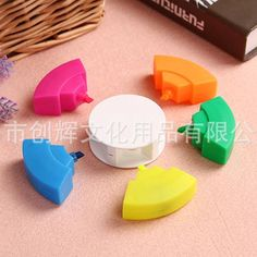 Round Highlighters with 5 Colours