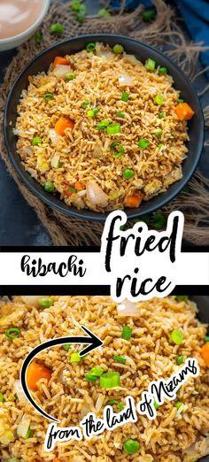 Easy Chinese Recipes, Easy Rice Recipes, Asian Recipes, Best Fried Rice Recipe, Best Japanese Fried Rice Recipe, Japanese Steakhouse Fried Rice Recipe, Asian Chicken Fried Rice Recipe, Restaurant Style Fried Rice Recipe, Fried Rice Recipes