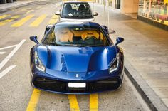 #Ferrari #488GTB #Blue The best HyperCar ever Designed & Made...