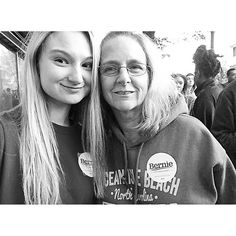Me and mom trying to be all political and such  #FeelTheBern