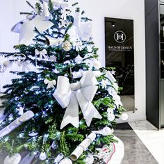 Christmas tree styling ideas with Haus of Design! We have gone with a silver theme this year, with large bows and stunning baubles. Stockton On Tees, German Kitchen, Kitchen Showroom, Silver Christmas Tree, Kitchen Living, Kitchen Design, Entertaining, Table Decorations, Ideas