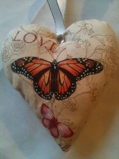 Butterfly Christmas Gift / Butterfly Love Fabric Lavender Bag- Handmade in Home, Furniture & DIY, Home Decor, Other Home Decor | eBay