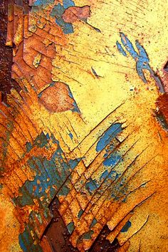 cracked and weathered paint revealing rust Performance Artistique, Peeling Paint, Rusty Metal, Abstract Photography, Texture Photography, Beautiful Textures, Mellow Yellow, Textures Patterns, Color Inspiration