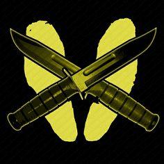 Buy Marine Yellow Footprints and Kbar Shirt Made In America! Marine Corps Shirts, Footprints, Future, Yellow, Tattoos, Block Prints, Future Tense, Tatuajes, Tattoo