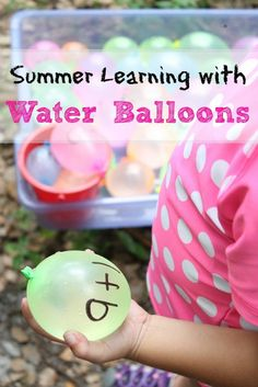 Have fun learning with water balloons! Beat the heat and keep kids entertained this summer with these fun hands-on learning water balloon games.