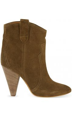 ISABEL MARANT Leyton Suede Ankle Boots. #isabelmarant #shoes ...