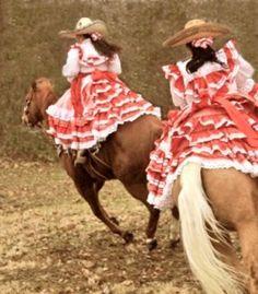 Dos Escaramuzas Charro, Dior Fashion, Mexican Art, Mexico, Aesthetics, Pattern, Painting, Color, Ideas