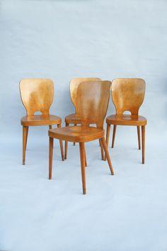 Max Bill, Das Brett Chairs for Horgen-Glarus, 1954.