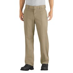 Dickies Men's Relaxed Straight Fit Flex Twill Pant- Desert Sand 34x30