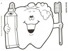 print coloring image | Dental, Dental health and Teeth