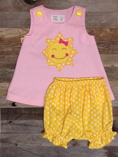 You are My Sunshine First Birthday Dress and by PamiesBabyThreads