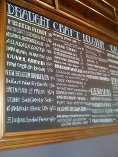 Different Font Beer list