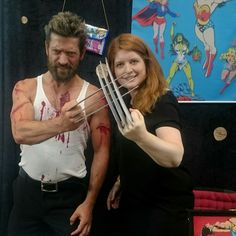 Me and 🔪♥🔪LOGAN🔪♥🔪 at COMIC CON GERMANY in Stuttgart!!! And my Sailor Moon clutch in the background ;)  #ccg2017 #luckylogan #germanwolverine #mybooth #sailormoonbag #comiccongermany #pauwpauwproducts