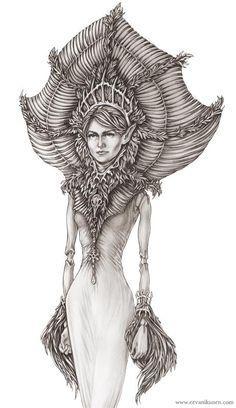 Riina (The Elven Queen) - Fantasy Art