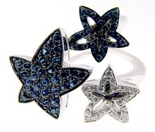 Io Si by Scavia Sapphire and Diamond Star Ring