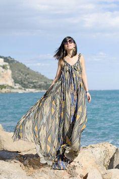 Print long dress