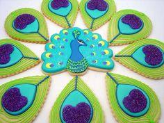 Peacock Cookies Tutorial