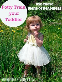 Potty Train Toddler – signs that your child is ready