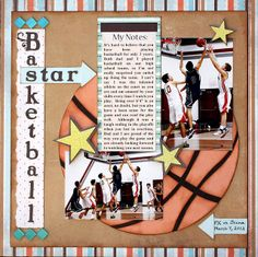 #basketball #sports #layout #scrapbook #scrapbooking Kelly Creates: A Sporty April Sketchy Challenge