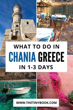 1-3 Days in Chania, Crete: Discover the best of this Cretan city with a flexible itinerary for 1, 2, or 3 days in Chania. Bonus day trips for extra days in the Chania region | What to do in Chania | Best things to do in Chania | Old Town Chania | Beaches in Chania Crete.