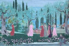 Maurice Denis. From 1870 to 1943. Paris. End of the day of the Decameron. 1907. Nancy.