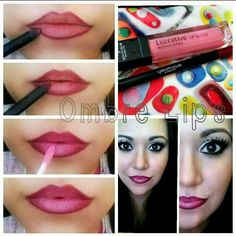 Ombre lips Younique cosmetics my link to order is https://www.youniqueproducts.com/RobinPowers/party/1187514/view