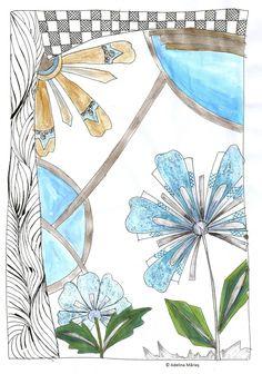 Adelina Mărieş - design | picturi, schite, desene, idei semnate Adelina Maries Marker, Tapestry, Artwork, Painting, Decor, Hanging Tapestry, Tapestries, Work Of Art, Decoration