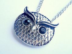 owl head charm pendant necklace USD13 FREE SHIPPING