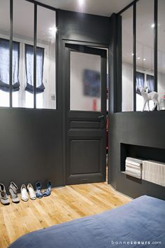 bonnesoeurs decoration espace nuit 05 chambre verriere vitres d atelier porte ancienne